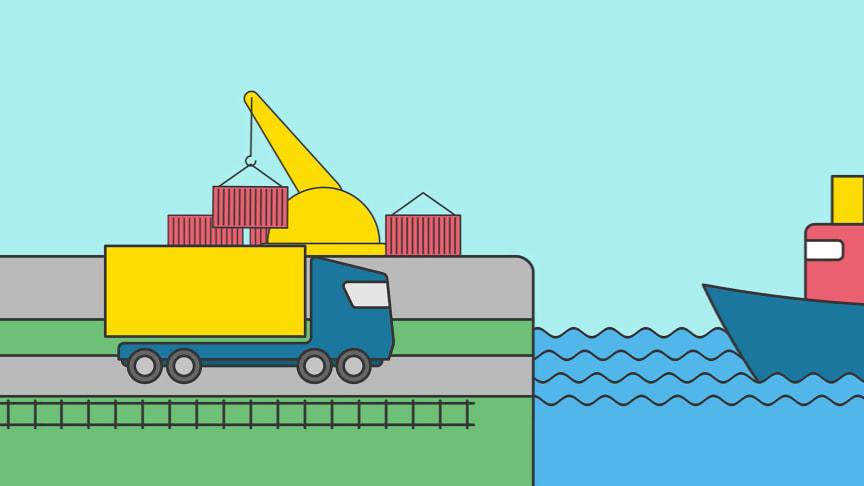 Hogia Moveit kopplar ihop informationen mellan åkerier, rederier och terminaler för effektivare transportplaneringen till och från terminalen.