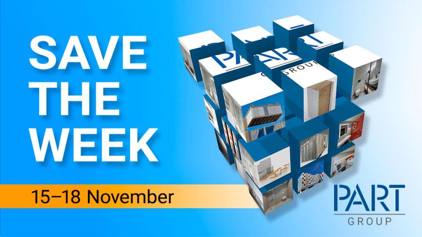 Planera in 15-18 november i kalendern! Då ses vi på Framtidsveckan hos PartGroup i Arlandastad.