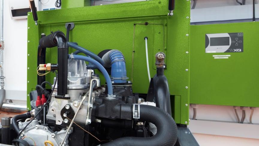 Ein solches Aggregat (Mini-BHKW) von Energieservice Westfalen Weser steht auch im Bildungszentrum des Bundesamts für Familie und zivilgesellschaftliche Aufgaben (BAFzA) in Bad Oeynhausen.