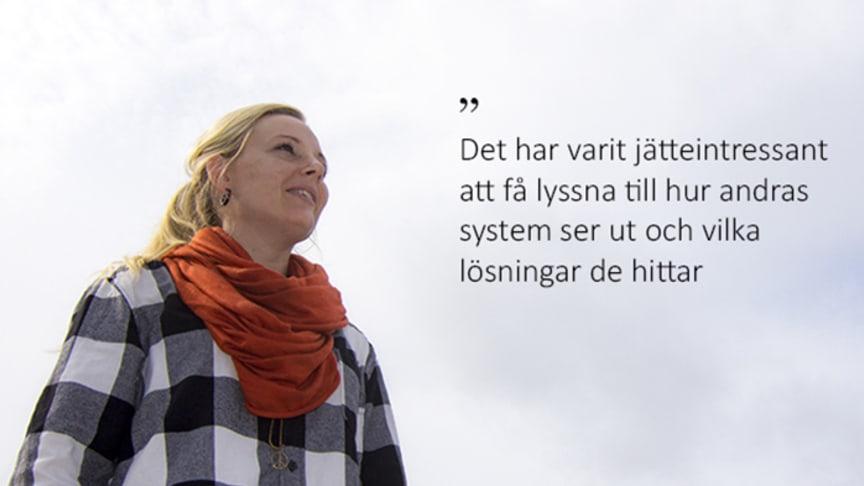 Frida Andréasson, möjliggörare och praktiker på Nationellt kompetenscentrum anhöriga, Nka och doktorand på Linnéuniversitetet, institutionen för hälso- och vårdvetenskap.