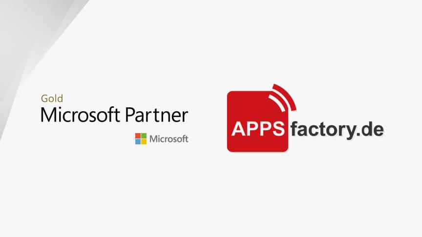 APPSfactory als Microsoft Certified Gold Partner ausgezeichnet