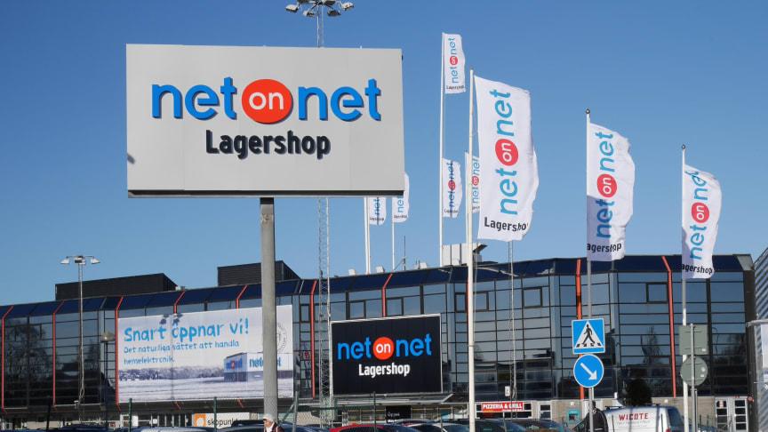 NetOnNet Lagershop Backaplan.  Foto: Kristoffer Stäringe