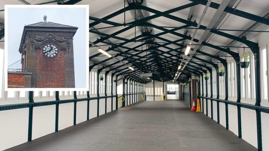 Nuneaton's historic station clock and footbridge get £4m upgrade