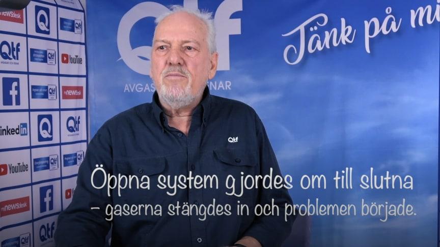 Björn Carlsson, grundare av QTF, berättar hur problem med gaser började i svenska värmesystem
