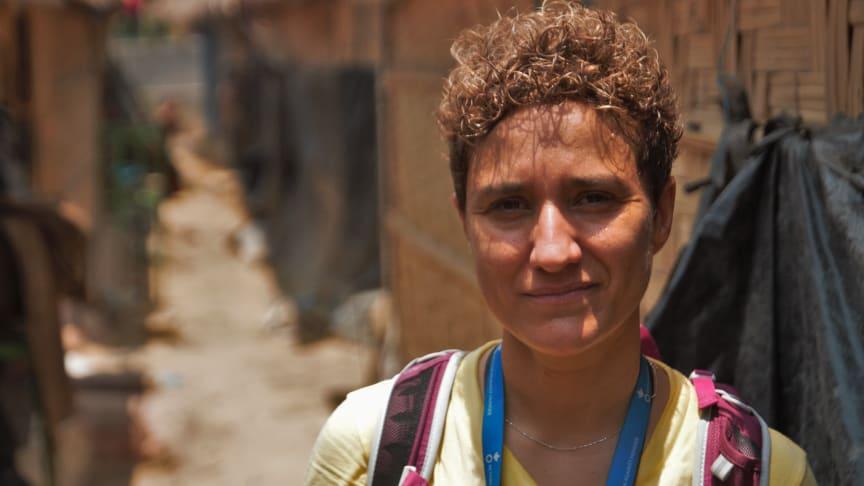 Nieves Barragan Mohacho visits refugees in Cox's Bazar, Bangladesh.
