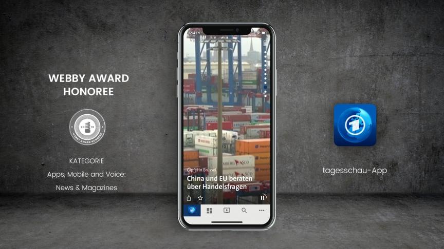 Appsfactory mit tagesschau-App als Honoree bei den 23. Annual Webby Awards ausgezeichnet