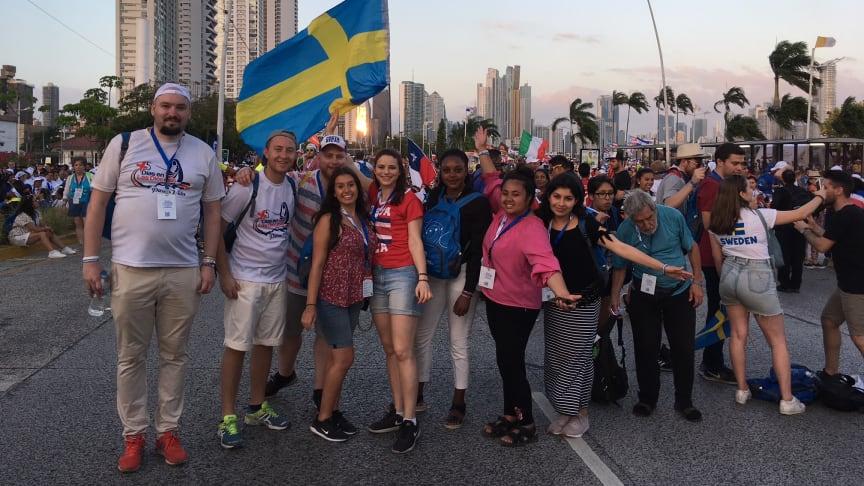Svenska ungdomar på Världsungdomsdagarna i Panama City