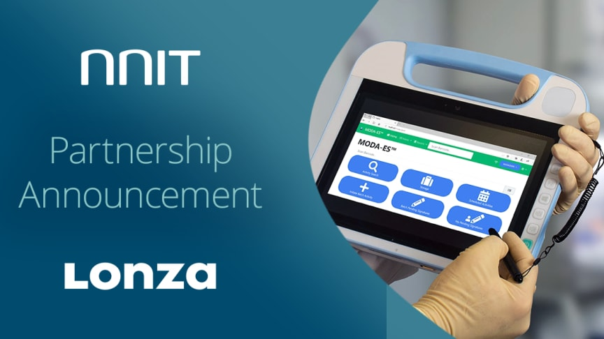 Lonza and NNIT partner to speed up MES projects