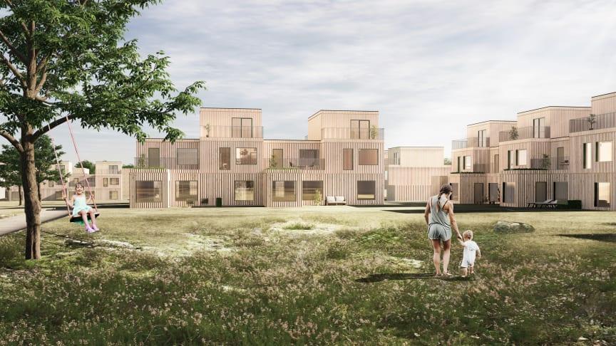 Exempel på nya bostäder i Ösmo