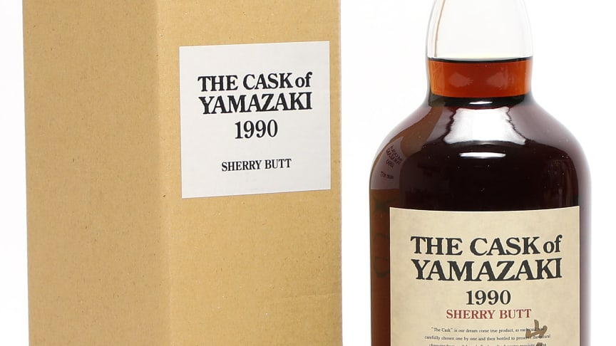"1 bt. Yamazaki ""The Cask"" Sherry Butt, Single Malt Whisky, Japan 1990 A (hf/in). Oc."