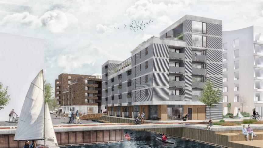 Hållbarhetsverktyget har till exempel använts i Riksbyggens kommande projekt i Inre Hamnen, Norrköping. Resultatet kan ses i den bifogade bilden nedan och där samtliga parametrar antingen är bättre eller bäst.