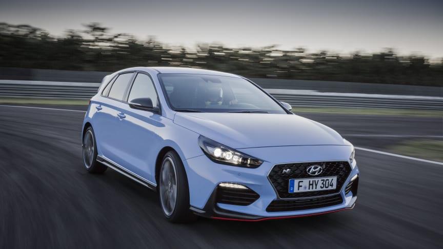 """Dette er Hyundais nye sportslige i30 N """"hot hatch"""" som yter opp til 275 hk."""