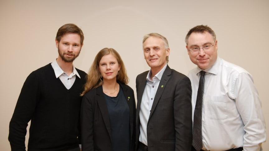 Rasmus Ling, Emma Berginger, Rickard Persson och Anders Åkesson.
