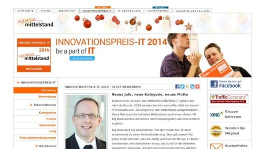 Bewerbungsfrist für INNOVATIONSPREIS-IT 2014 beginnt