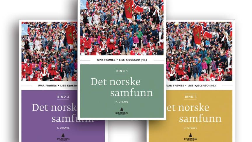 Omslagene til Det norske samfunn, Gyldendal Akademisk 2016