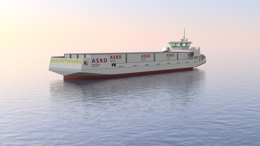 NYVINNINGER: Askos elektriske og autonome fraktefartøy var et av mange Enova-prosjekt som fikk støtte i 2019 (Illustrasjon: Naval Dynamics)
