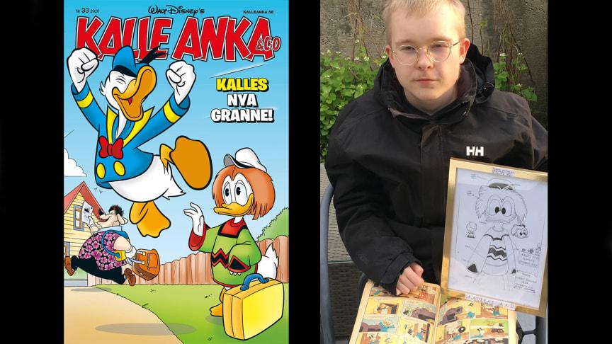 16-åriga Lukas från Oxelösund har skapat Kalle Ankas nya granne