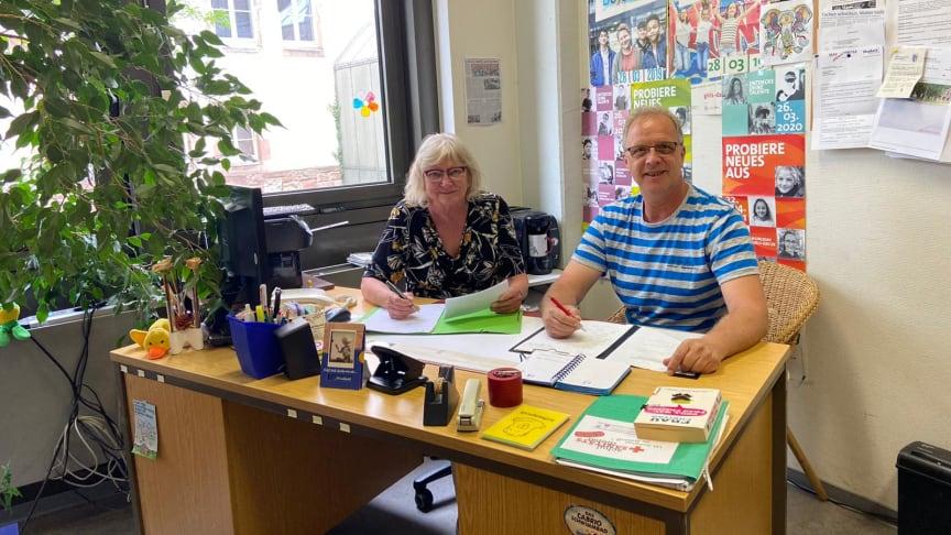Ursula Schroeter und Dirk Schulze-Hoppe arbeiten im Team der Schulsozialarbeit im Kreis Hersfeld-Rotenburg.