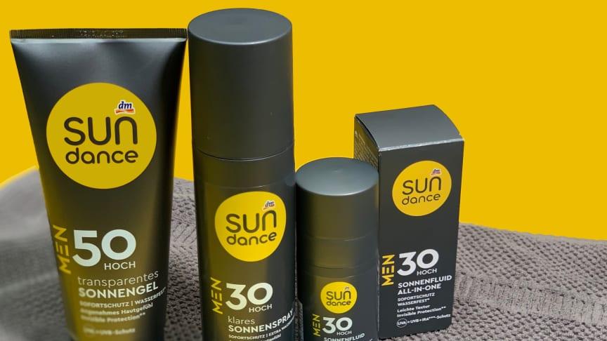Ab sofort in allen dm-Märkten und im Onlineshop erhältlich: die SUNDANCE Produkte für Männer