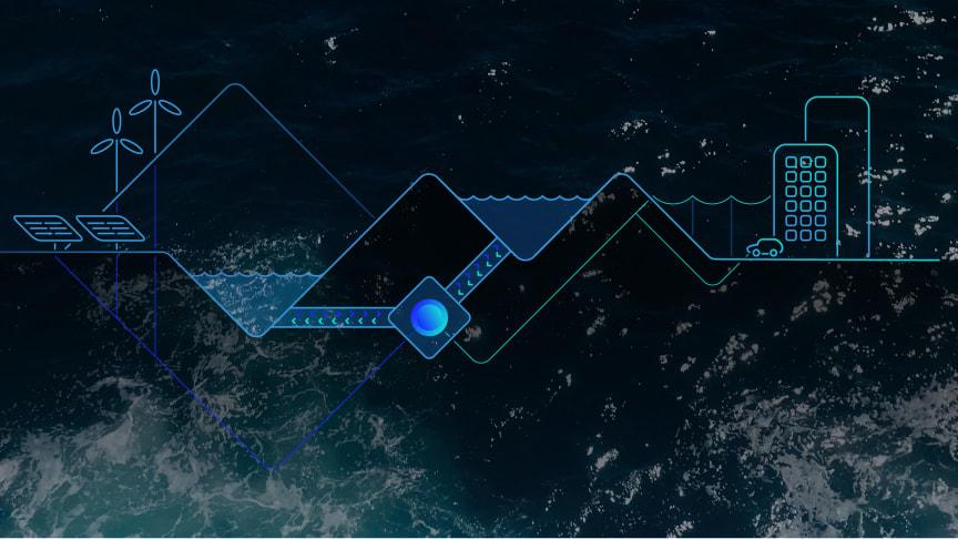 Konceptuell bild av ett pumpvattenkraftverk i elsystemet