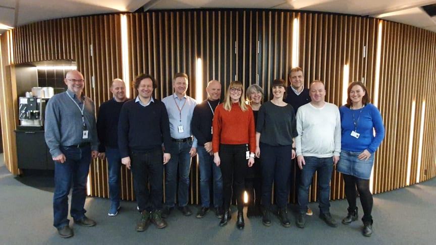 Projektgruppen bag det nye akutsygehus samlet for første gang