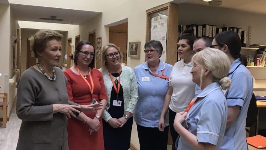 Amanda Cottrell with Claire Cardy Linda Trew and ellenor nurses