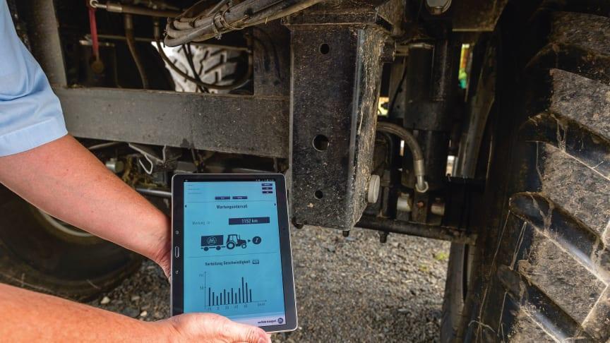 Vom Radkasten aufs Tablet: Per kabelloser Kommunikation leitet der AGRO Hub die gemessenen Daten weiter.