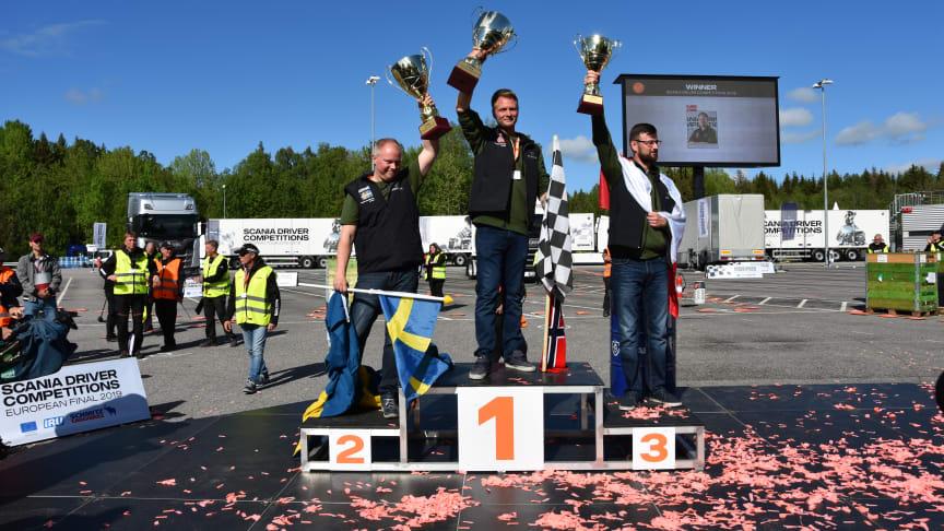 Andreas Nordsjø fra Norge vandt Scania Driver Competitions finalen i weekenden