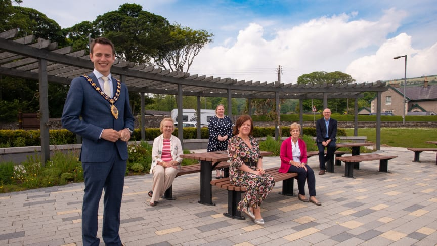 Glenarm environmental enhancements include a new seating area, planting and pergola
