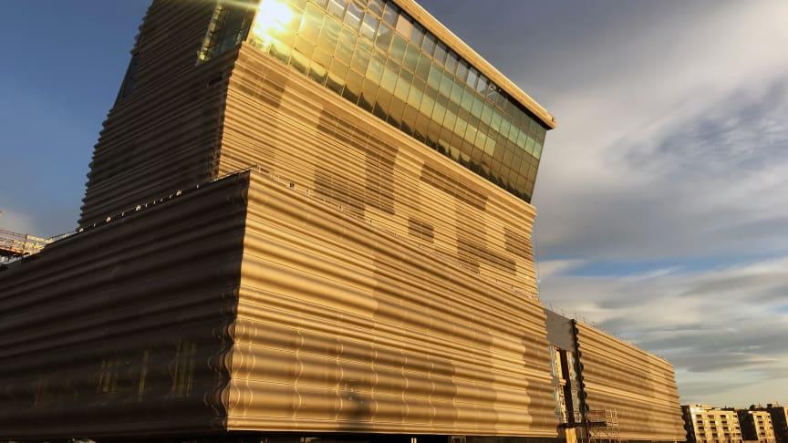 Det nye Munchmuseet står nesten klart og åpner mai/juni 2020. Foto: Kultur og Idretssbygg