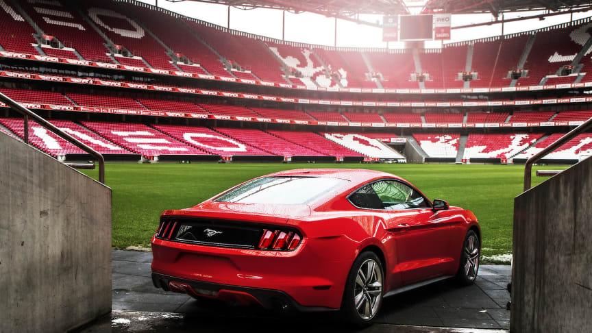 Mer än 9 300 personer anmälde sig under Champions League-final – 500 av dem får förboka nya Ford Mustang