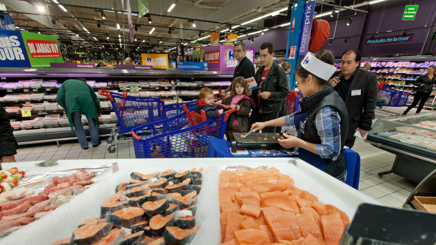 Poland and France were the largest export markets for Norwegian salmon in October.
