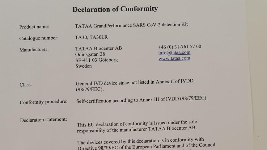 CE-IVD GrandPerformance SARS-COV-2
