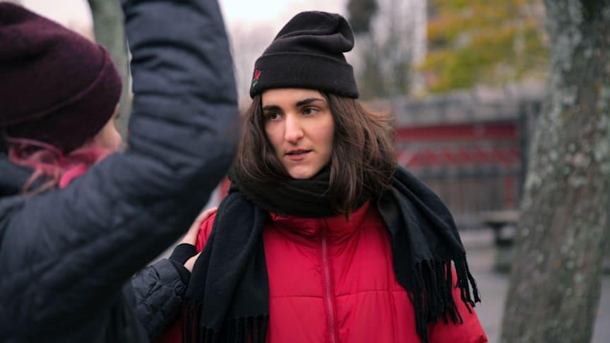 Sophie Vuković, en av konstnärerna i projektet Lyssna