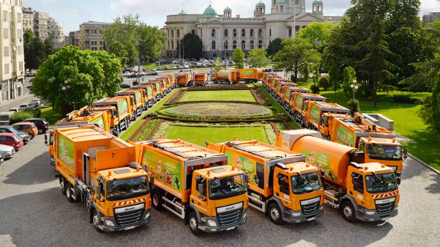 DAF Trucks har levererat hela 44 fullutrustade renhållningsfordon till renhållningsföretaget i Belgrad.