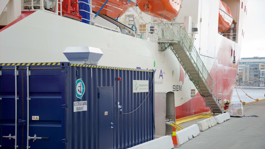 Landstrømanlegg i Kristiansand havn