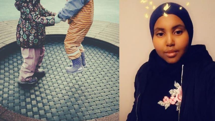 HAUGEN AKS: Asma Hassan (20) fikk jobb hos Haugen aktivitetsskole.