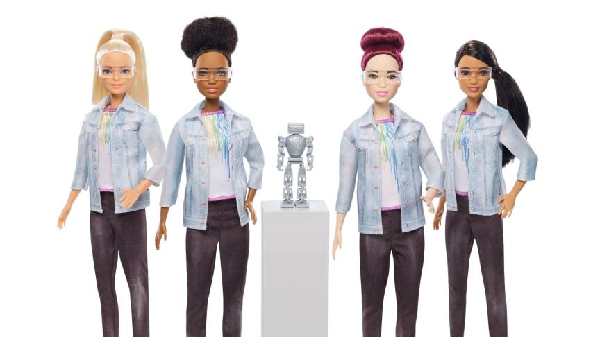 Barbie Robotik Ingenieurin in vier verschiedenen Ausführungen