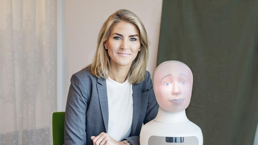 Elin Öberg Mårtenzon, Chief Innovation Officer på TNG och Tengai – världens första sociala intervjurobot, som lanseras i Malmö den 15 maj