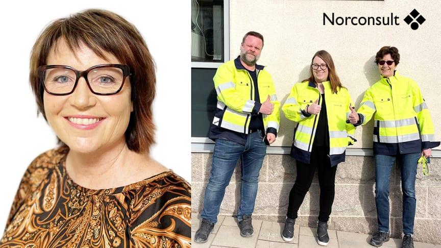 Gruppledare Lottie Lind och nya kollegorna i Karlstad; Fredrik Reuter, Sara Järvin och Malin Pettersson