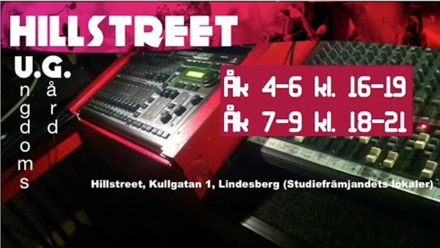 "Ungdomsgården ""Hillstreet UG"" öppnar igen"