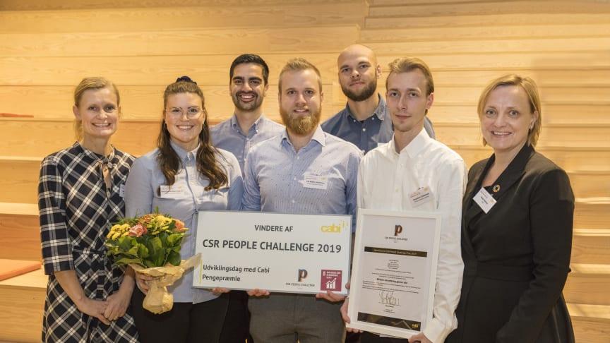 CSR People Challenge er i dag blevet uddelt til fem studerende fra Erhvervsakademi Aarhus
