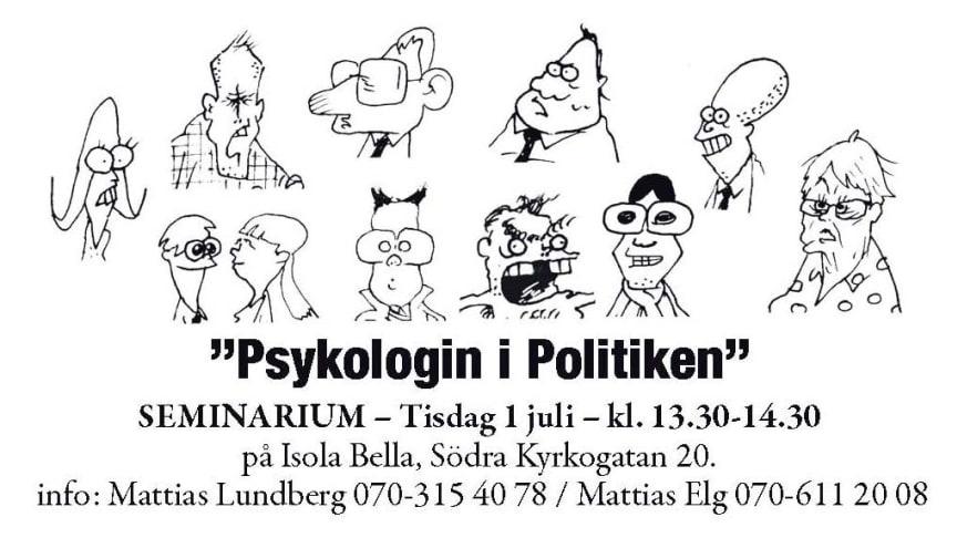 Varför blir svenska politiker aldrig förbannade?