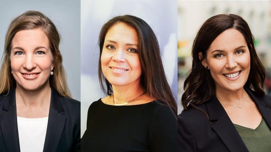 Tre nya kvinnliga partners på Delphi till 2021