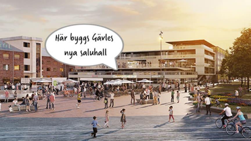 Gavlegårdarna bygger saluhall i Godisfabriken - Diléns flyttar in