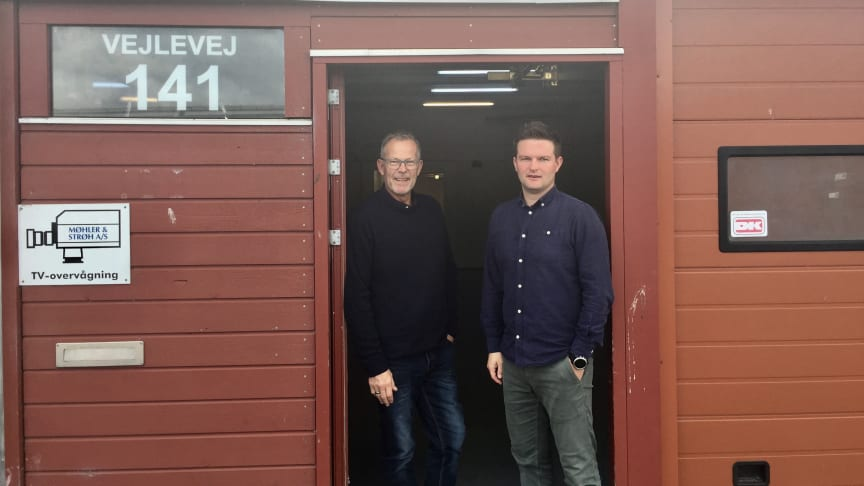 Driftschef Martin Brink og driftsassistent Ole Lundtang her ved de nye lokaler i Kolding på Vejlevej 141.