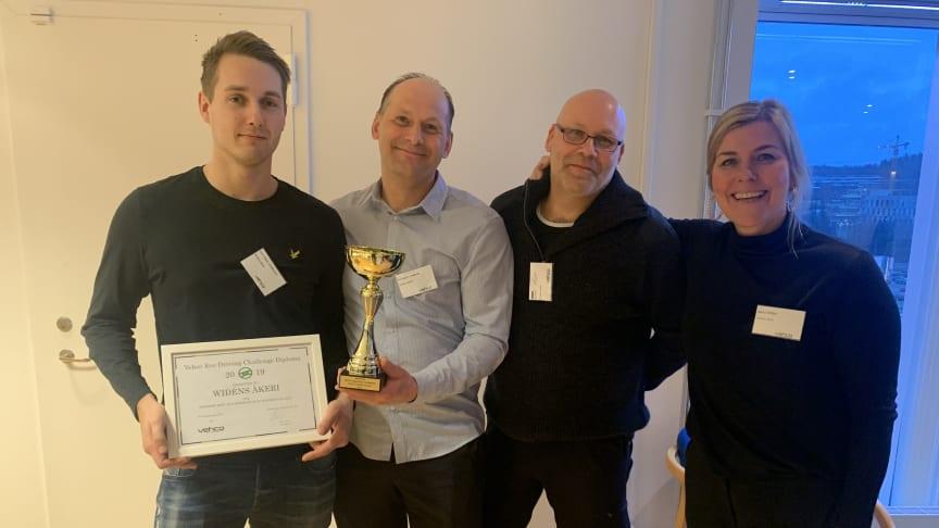 "Widéns Åkeri vann för bästa ""Eco Momentum"" i Vehco Eco-Driving Challenge."