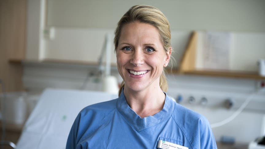 Sophia Brismar Wendel, förlossningsöverläkare på Danderyds sjukhus.