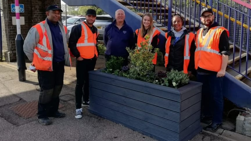 Harlington station has been spruced up thanks to a planting project - more images below