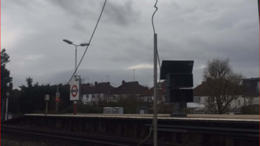 Damage to overhead power lines outside Euston